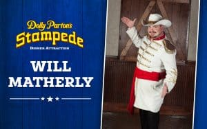 Picture of Will Matherly, Master of Ceremonies for Dolly Parton's Stampede in Branson.