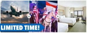 Limited Time Stampede, Airfare, & Lodging Vacation Package!