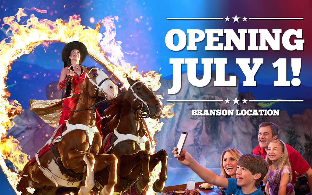 Dolly Parton's Stampede Reopening July 1 in Branson, MO & July 3 in Pigeon Forge, TN