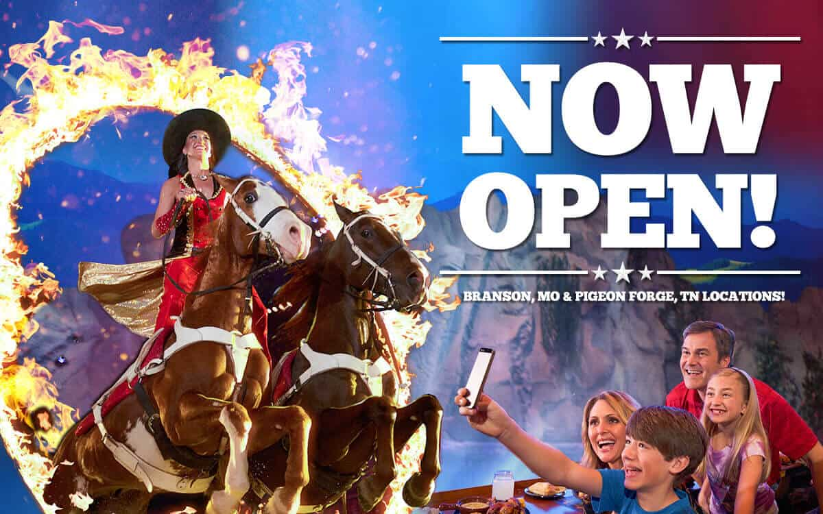 Dolly Parton's Stampede is Open in Branson, MO & Pigeon Forge, TN