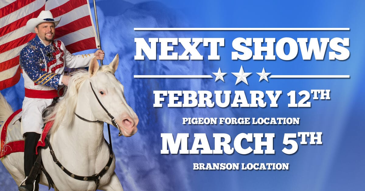 Dolly Parton's Stampede in Branson, MO opening March 5th & Pigeon Forge opening February 12th!