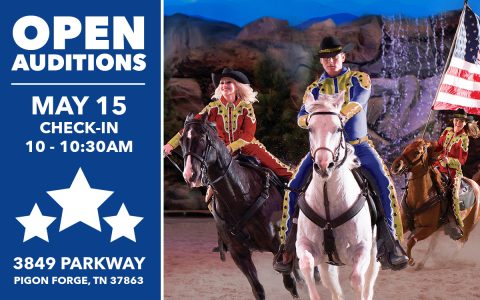 Open Auditions May 15 At Dolly Parton's Stampede In Pigeon Forge, TN